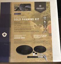New listing Stansport Adventure Seeker's Gold Panning Kit 2 Pans, Pick, Vials, Tweezers #603