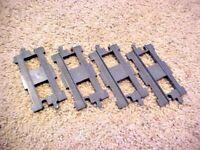 Lego Duplo THOMAS & FRIENDS 4 Pieces STRAIGHT DARK GRAY TRAIN TRACK RAIL   e