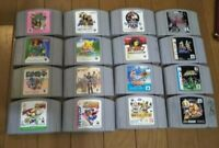 Nintendo 64 Game bundle lot of 16 games Cartridge Bomberman, Zelda, Mario Kart
