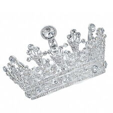 TQC40 Imperial Medieval Fleur De Lis Alloy Princess Crown 77 mm High Party Gift