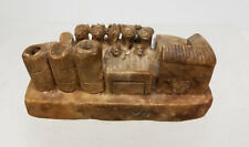 Antique Neoclassical Chinese Carved Soapstone Farm Model Greek Roman China