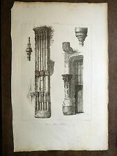Lithographie GUÉ église Lillebonne VOYAGE PITTORESQUE Taylor NORMANDIE 1820