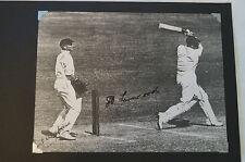 Cricket - Collectable - Harold Larwood - WA Oldfield signed Photo Card -Bodyline