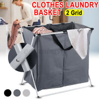 1/2 Dirty Clothes Storage Basket Home Laundry Hamper Sorter Foldable Collapsible