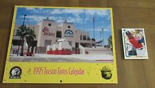 BASKETBALL GREAT MICHAEL JORDAN-BASEBALL PLAYER-1995 TUCSON TOROS CALENDAR &CARD