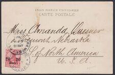 GERMANY, 1907. Offices in Turley Card 32, Fremont, Nebraska