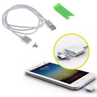 Magnetic Micro USB Data Charger Charging Cable Adapter For Android Samsung HTC