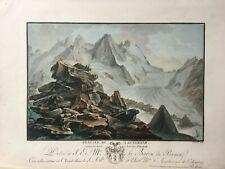 1785 Swiss Alps Antique Aquatint by master printer Descourtis after Rosenberg,