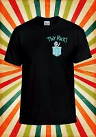 Tiny Rick Sanchez Space Pocket Mens Comedy Show Inspired T Shirt Black