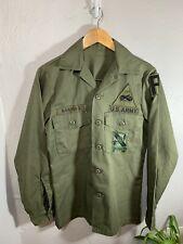 Vintage Vietnam Uniform Shirt Utility Top US Army 131st Infantry Regiment Unit