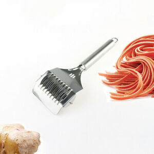 Stainless Steel Noodle Lattice Roller Docker Dough Cutter Pasta Spaghetti Maker