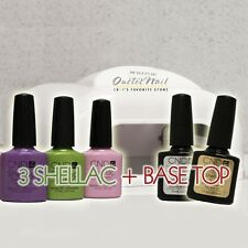 GEL MANICURE STARTER GIFT KIT: 3 CND Shellac Colors + Base Top + 36W UV Lamp SET