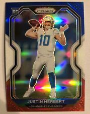 2020 PANINI PRIZM JUSTIN HERBERT RED WHITE & BLUE PRIZM RC #325 SP CHARGERS PSA