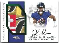 2016 National Treasures Keenan Reynolds RPA Rookie RC Patch Auto LOGO Shield NFL