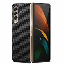 for Samsung Galaxy Z Fold 3 Flip 3 Ultra-thin Carbon Fiber ShellSmart Case Cover