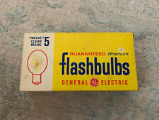 Vintage GE 5 Blue Flash Bulbs (One Dozen)