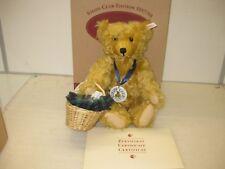 STEIFF 420108 PICKNICK-Bär 1997 Teddybär Goldblond 34 ca. 32 cm  NEU & OVP