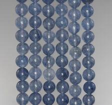 "8MM  JADE GEMSTONE GRADE A IOLITE BLUE ROUND LOOSE BEADS 15"""