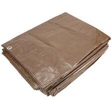 Sigman 12' x 20' Brown Economy Tarp - Camping Tarp - Roofing Tarp - Brand New