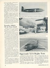 1953 Aviation Article Bell X-1A Supersonic Research Plane Rocket Powered Photos