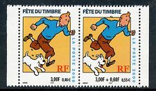 TIMBRE FRANCE NEUF N° 3304 ** PAIRE / FETE DU TIMBRE / TINTIN / ISSUS DE CARNET