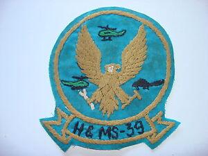 Vietnam War USMC Headquarters & Maintenance Squadron H&MS-39 Hand Sewn Patch