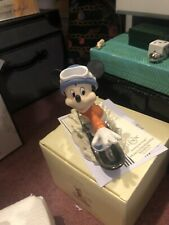 Lenox Mickey's Snowboarding Adventure Still In Original Box