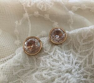 Michael Kors Glam Classics Rose Gold Cz Stud Earrings *Great Condition!