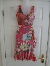 ROBERTO CAVALLI Ladies Pink Floral Vest Top IT 42/UK 10 and Matching Skirt IT 40