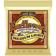 Ernie Ball 2003 Earthwood Acoustic Guitar Strings MedIUM Light 12-054