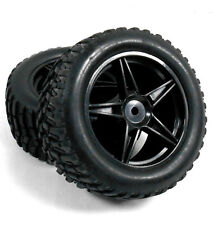 70010 1/10 Scale Off Road RC Buggy Front Wheels and Tyres x2 Black 5 Spoke HSP