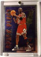 1995-96 Topps Michael Jordan Spark Plug Rare Foil Insert Card, MJ, Bulls, HOF