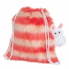 Manhattan Toy E8 Baby Drawstring Fuzzy Backpack w/ Bunny Stuffed Animal 216510