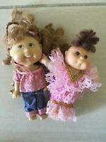 Retro Cabbage Patch Dolls Play Along OAA 1995 & 2006 Approximately 13cm High