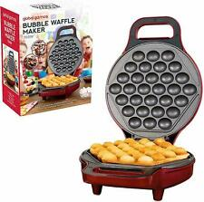 Electric 700w Bubble Waffle Maker Waffles Ice Cream Cone 180° Dual Sided Cooking