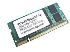 Electrobyt PC2-5300S-555-12 2GB 2Rx8 200-Pin SODIMM 667MHz DDR2 Laptop Memory