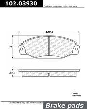 C-TEK Metallic Brake Pads-Preferred fits 1988-1990 Eagle Premier  C-TEK BY CENTR