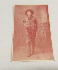Vintage Paper Ephemera, Postcard, Man With Gun. Year Unknown.