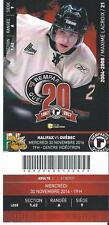 QMJHL Ticket - Quebec Remparts 20th Anniversary MAXIME LACROIX #21