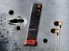 Metal Earbuds w/In-line mic-- Full Metal Jacket Earbuds Gun Clip case