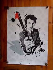 "Serigraphie Originale de  Chris Boyle  ""  Dirty Harry "" , Signée , Tirage 10 ex"