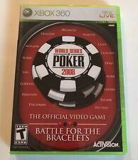 NEW World Series of Poker 2008 XBOX 360 - Battle For Bracelets