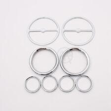 8pcs Speedometer Speaker Bezels Trim Ring Horn Cover Set For Harley Touring Road