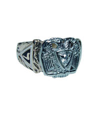 Vintage Diamond Masonic 32 Degree Mens Ring 10K Gold Estate
