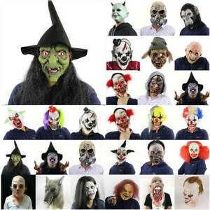 Fancy Scary Horror Mask Zombie Clown Latex Face Masks Halloween Cosplay Costume