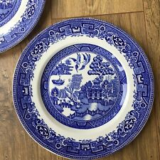 Old Willow Breakfast Plates Salad/Luncheon ALFRED MEAKIN Blue RARE 22.5 cm Size