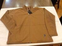 Nike Off Court Men's Tennis Jacket Full-Zip Lite Brown SZ-Large 887532 010 NWT