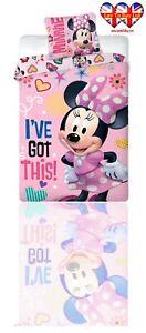 Official Disney Minnie Mouse Duvet Set(Single)Duvet Cover&Pillowcase(200X140)cm