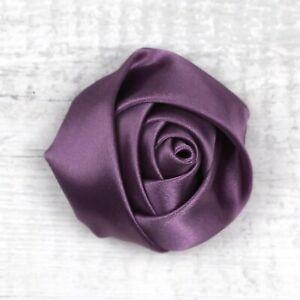 "1"" 50P Small Satin Rose Ribbon Flower Mini Appliques DIY Craft Supplies-28 Color"