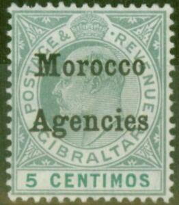 Morocco Agencies 1905 5c Grey-Green & green SG24 V.F MNH